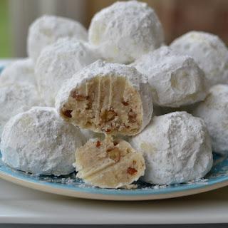 Buttery Pecan Snowball Cookies.