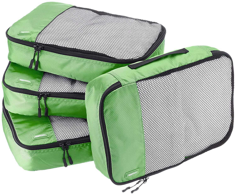 AmazonBasics 4 Piece Packing Travel Organizer Cubes Set