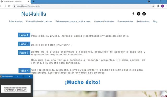 Net4skills monitor