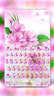 Pretty Flowers Keyboard - screenshot