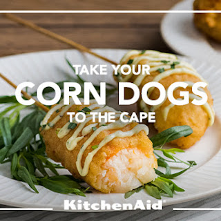 Lobster Corn Dogs with Lemon Tarragon Aioli