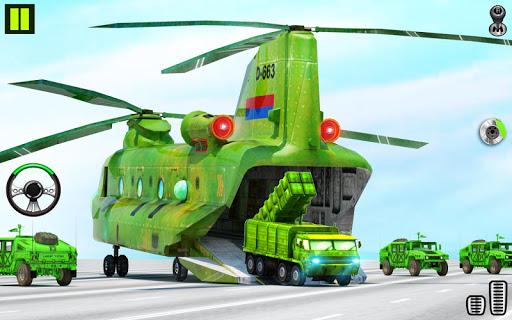 US Army Transporter Plane - Car Transporter Games apktram screenshots 13