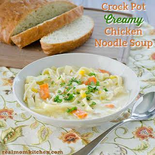 Crock Pot Creamy Chicken Noodle Soup.