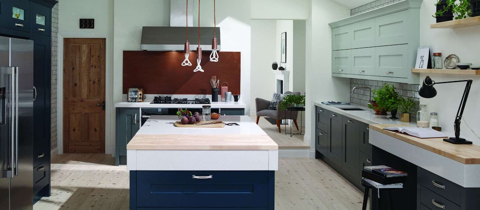 wooden and painted finishes | Welford | Heart Kitchens