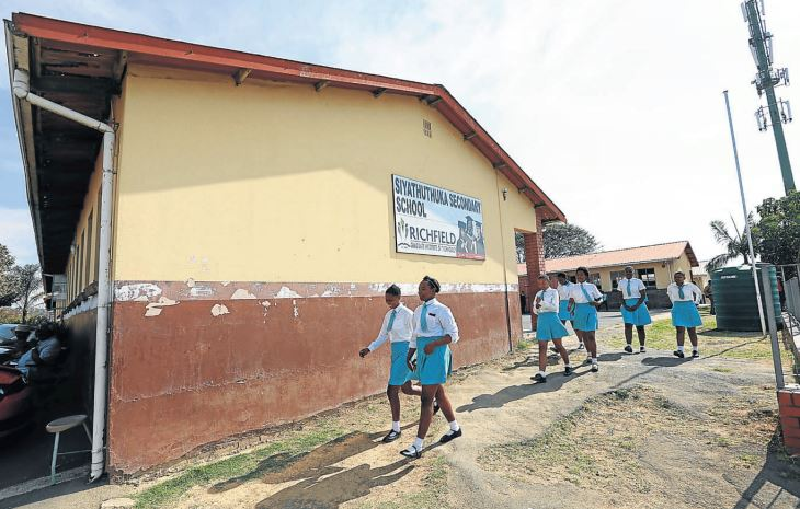 NOTORIETY Siyathuthuka Secondary School, in Inanda, KwaZulu-Natal, where the assault on a schoolgirl was videod and posted on #CountryDuty