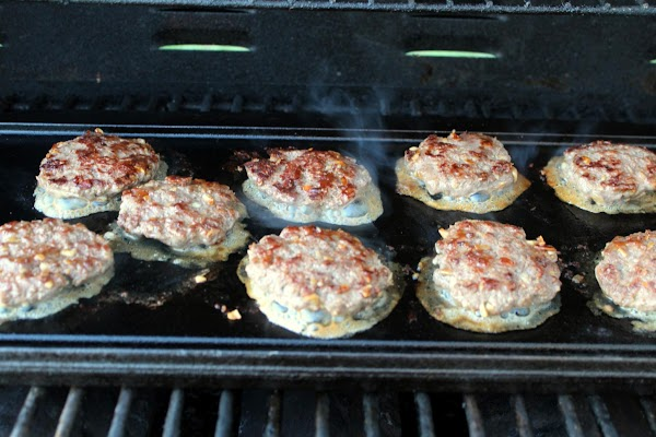 Make very thin patties to fit the size of the rolls. Cook on both...