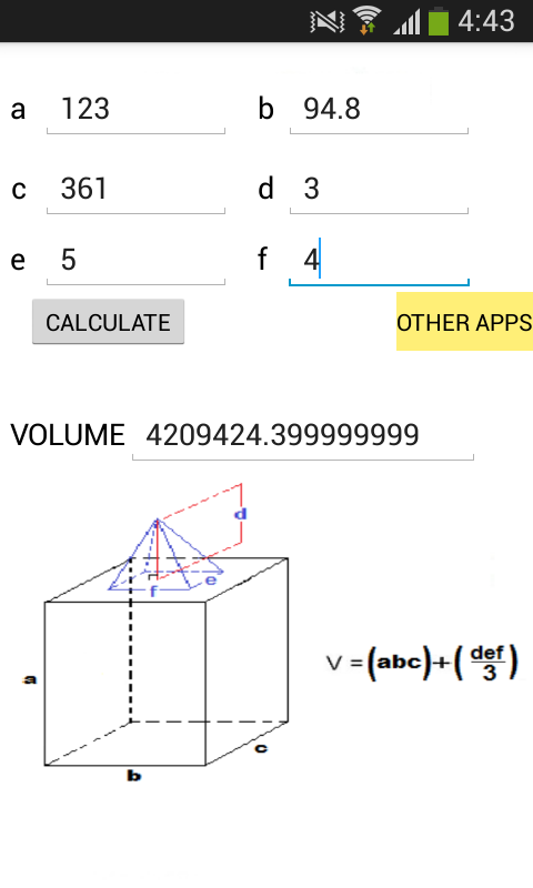 Volume calculator android apps on google play - Calcul volume litre ...