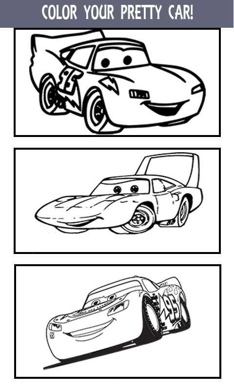 mcqueen coloring pages cars 3 screenshot