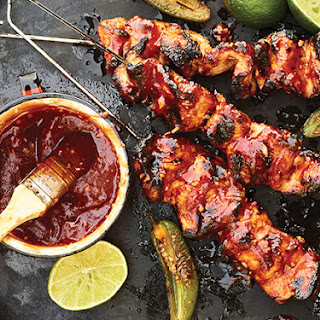 Chipotle Honey Chicken Skewers.