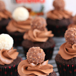 Nutella-chocolate cupcake with Nutella frosting