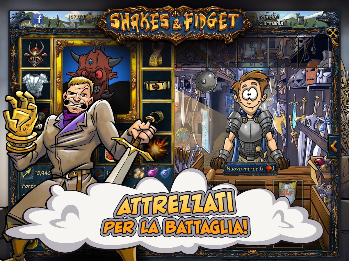 Shakes e Fidget- screenshot
