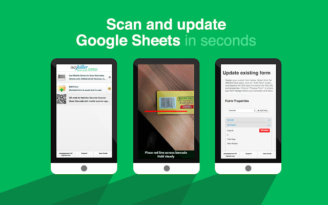 Netkiller Barcode Scanner for Google Sheets - G Suite