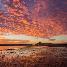 Sunset on the Sea of Cortez by Rita Taylor - Landscapes Sunsets & Sunrises ( waves, sunset, sun, water )