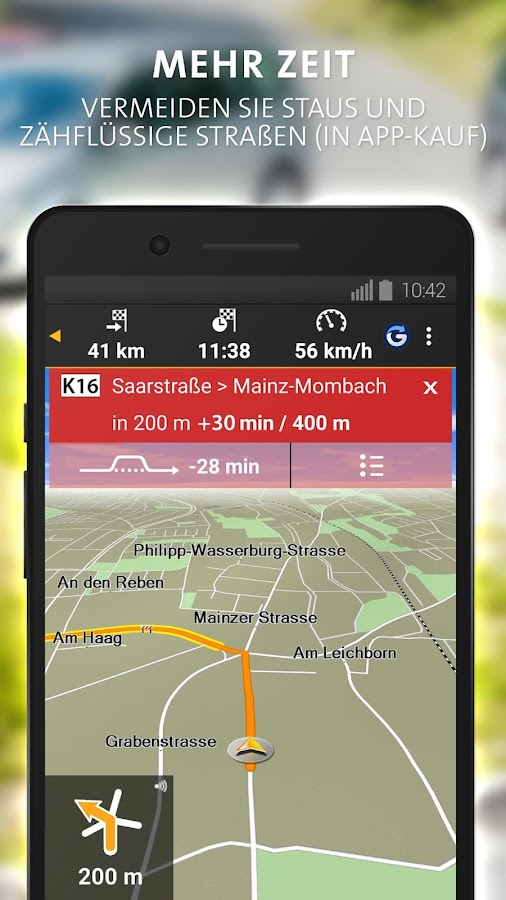 NAVIGON DACH – Screenshot
