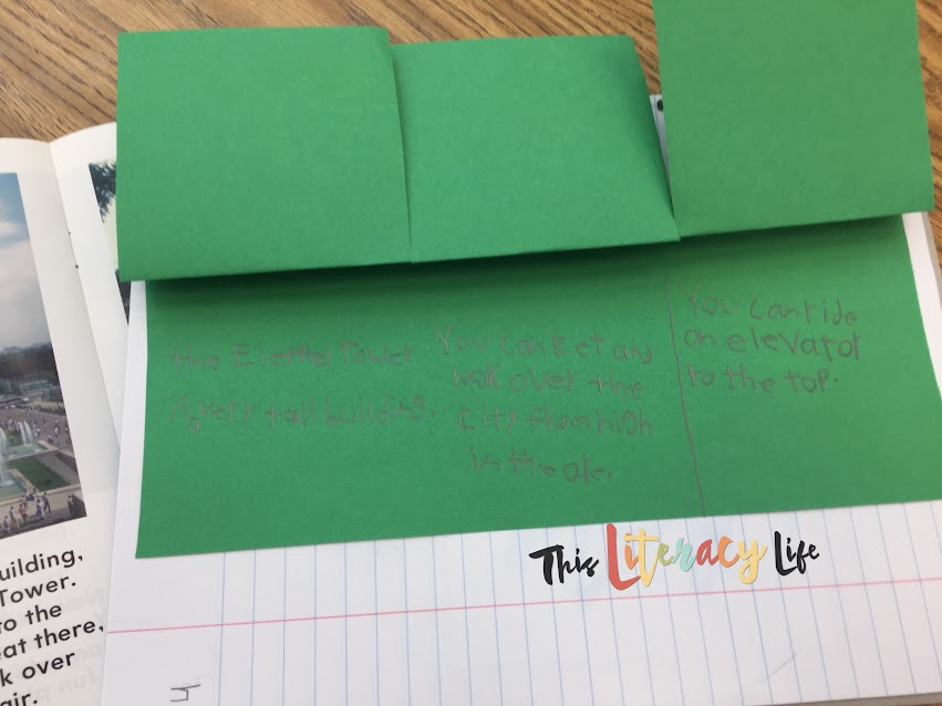 Use flip flaps to help students break it up and find main idea and details.
