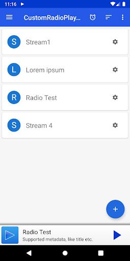 customradioplayer - basic url-radiostream app screenshot 1
