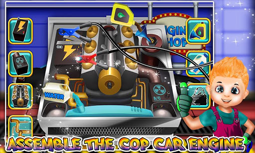 Police Multi Car Wash: Design Truck Repair Game 1.0 5