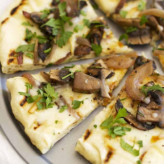 Grilled Mushroom Pizza with Rosemary and Smoked Mozzarella