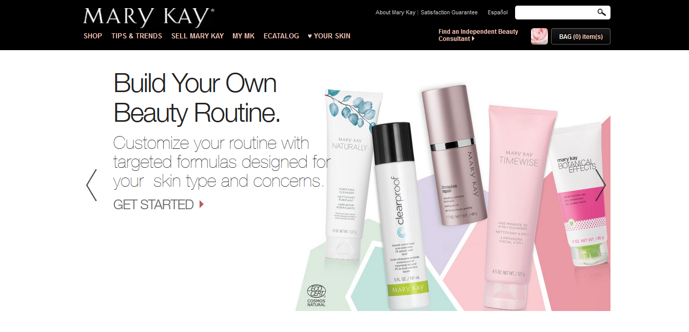 Mary Kay landing page