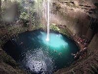 A cenote in the Yucatan