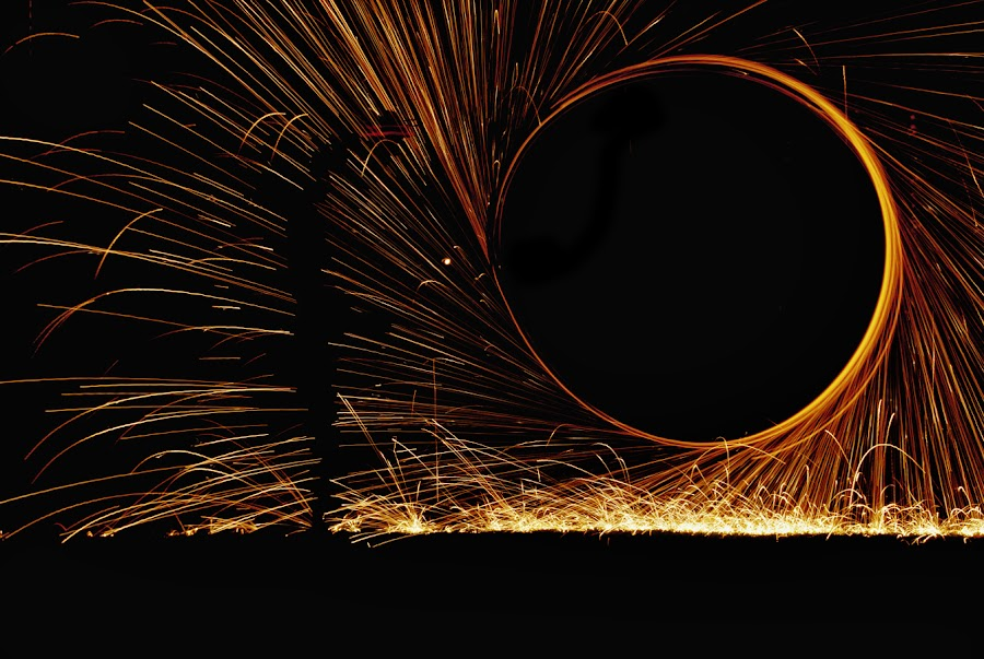 Man in the Light by Janine Giannini - Abstract Light Painting ( painting with light )
