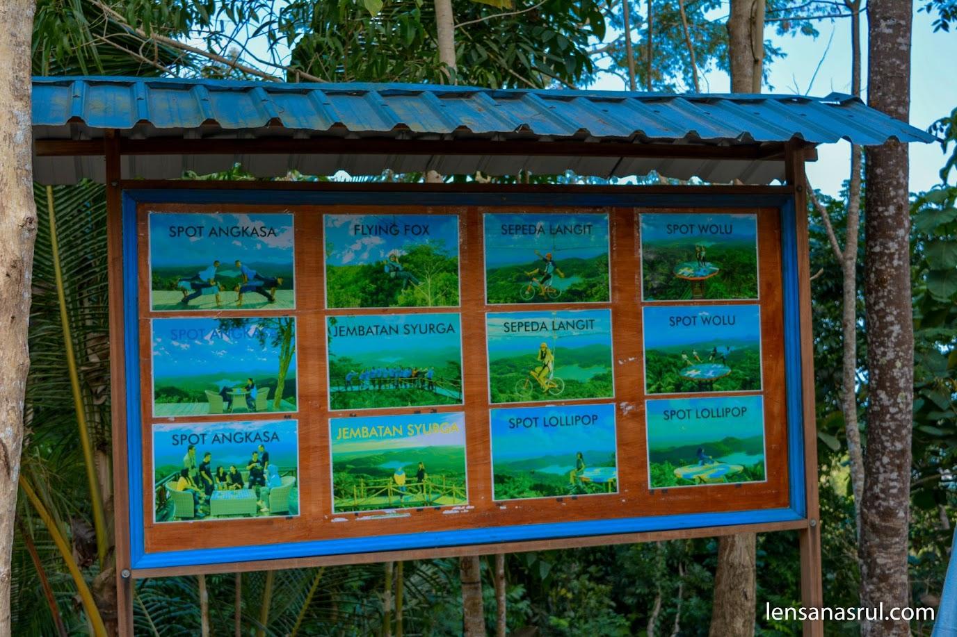 Fasilitas spot foto terbaik untuk mendapatkan keindangan Waduk sermo di Pule Payung