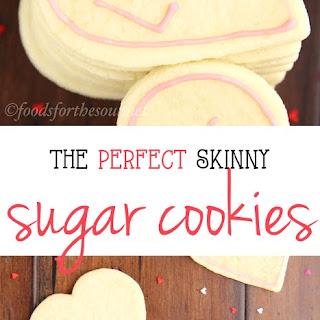 Skinny Heart-Shaped Sugar Cookies Recipe