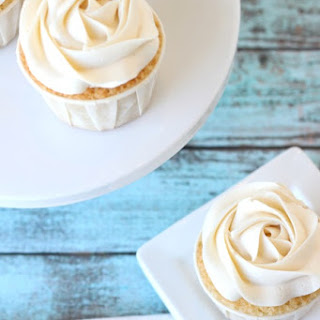 Vanilla Bean Cupcakes with Vanilla Italian Buttercream Frosting filled