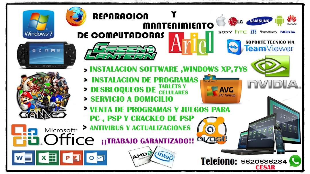Reparación Y Mantenimiento De Computadoras Ariel Servicio Técnico En Ixtapaluca