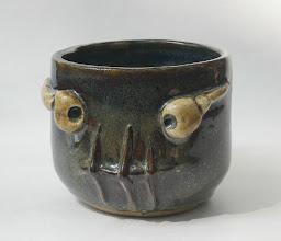 "Photo: Mug 13 * __ * 3"" tall. *  Holds ~ 1 cup"