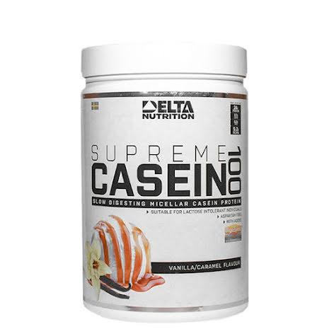 Delta Nutrition Supreme Casein 100, 900g - Vanilla Caramel