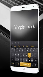 Simple Black Keyboard - náhled