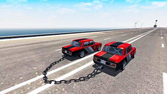 Chained Cars Speed Racing - Chain Break Driving - náhled