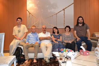 Photo: with Kurdish writer Jamal Jabar Kherib at his home in Hawler