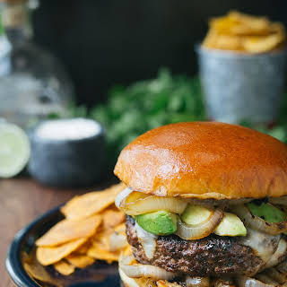 Mojo Beef Burgers with Tequila-Lime Aioli.