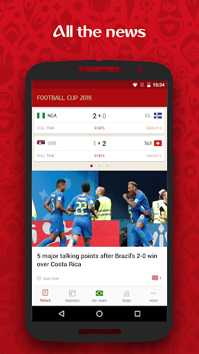 Football Cup 2018 u2014 Goals & News of the World Cup 2.16.0 screenshots 1