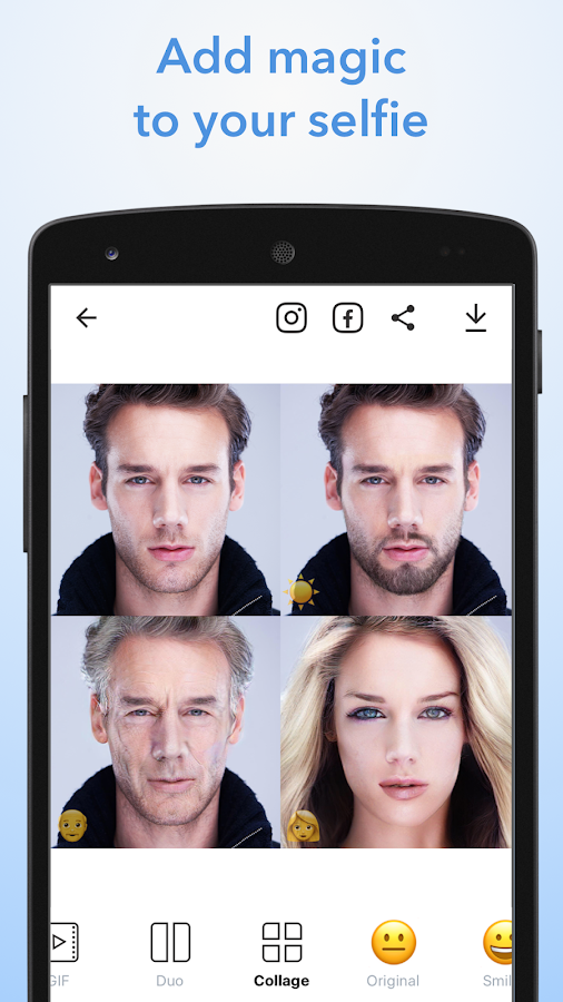 FaceApp: captura de pantalla
