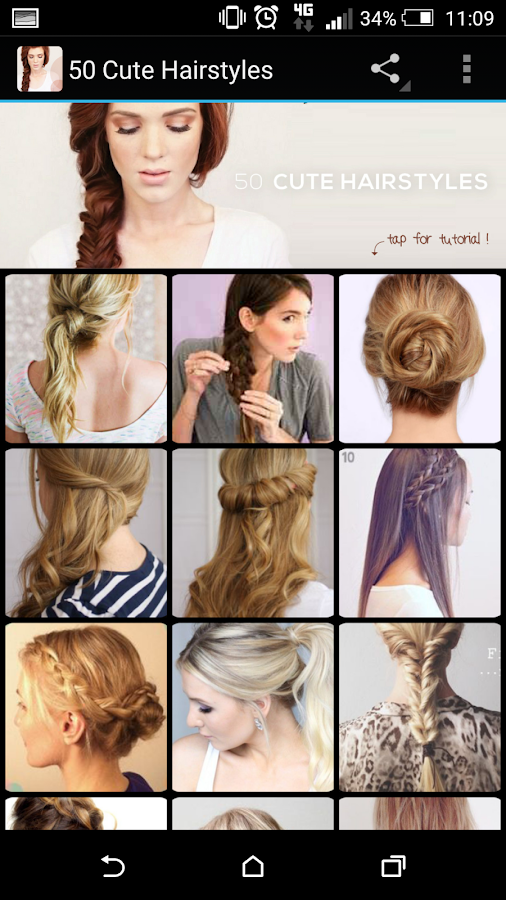 Wondrous 50 Cute Hairstyles Android Apps On Google Play Short Hairstyles Gunalazisus