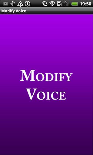 Modify Voice