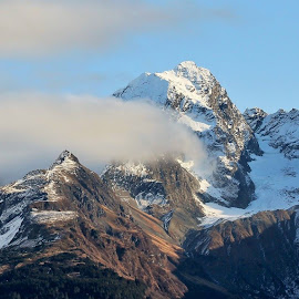 Mountain Tops by Patricia Phillips - Landscapes Mountains & Hills ( mountains alaska clouds )