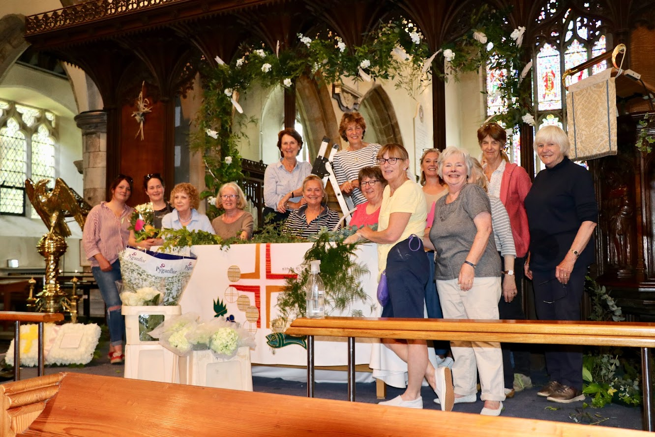 St Mildreds Flower Festival Tenterden - the flower arrangers