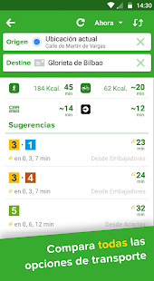 Citymapper - Rutas en transporte público Screenshot