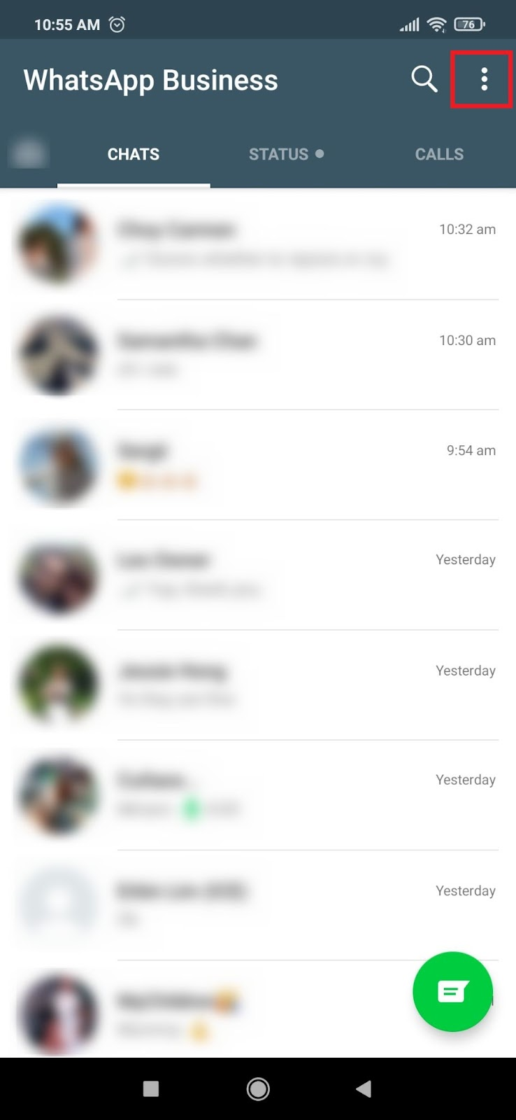 WhatsApp Templates Messages on WhatsApp Business App