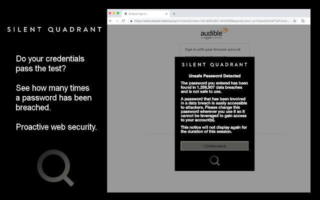 Silent Quadrant Password Protection