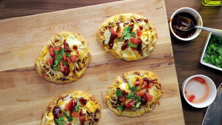 Barbecue Chicken Naan Pizzas Recipe