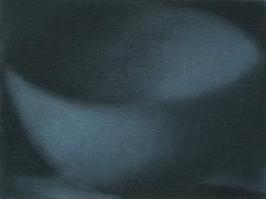 Photo: 23x17cm craie/carton bleu