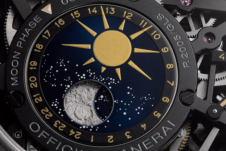 The Panerai L'Astronomo Luminor 1950 Tourbillon Moon Phases Equation of Time GMT