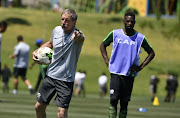 Head coach Stuart Baxter during the South African national mens soccer team training session at Steyn City School on November 13, 2018 in Johannesburg, South Africa.