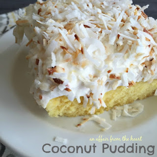 Coconut Pudding Poke Cake.