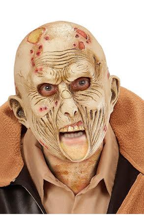 Ansiktsmask, zombie med öppen mun